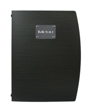 Portamenu A5 serie Capri nero