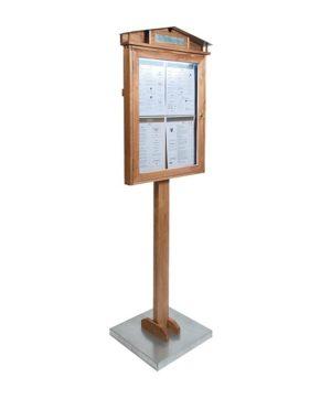 Espositore in legno a LED con piantana